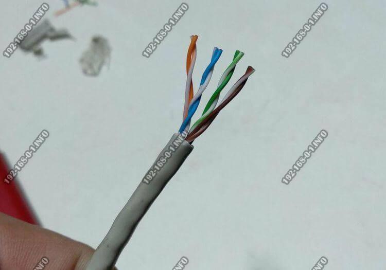как сделать интернет кабель правильно