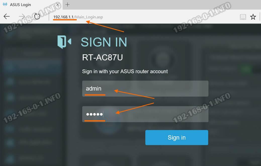 192.168.1.1 router.asus.com